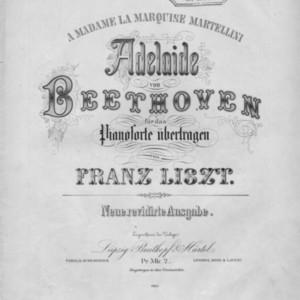 Adelaide : von Beethoven