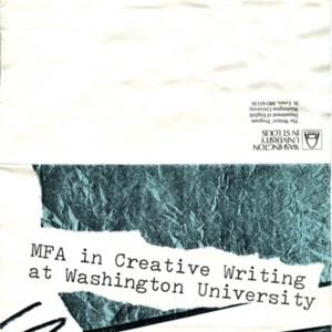 MFA in Creative Writing at Washington University brochure