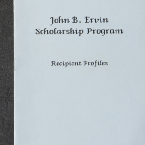 John B. Ervin Scholarship Program Recipient Profiles