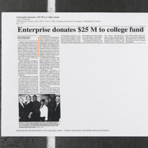 """Enterprise donates $25 M to college fund"""