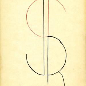 <em>J R</em> logo created by William Gaddis