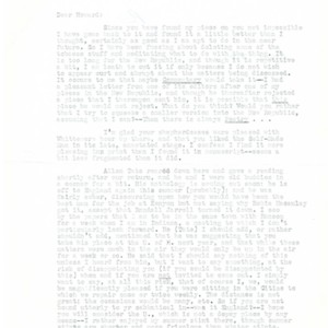 Typed letter, signed from Reed Whittemore to Howard Nemerov, April 28, 1958