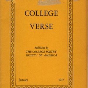 <em>College Verse</em>, Volume 6, Number 3 (January 1937)