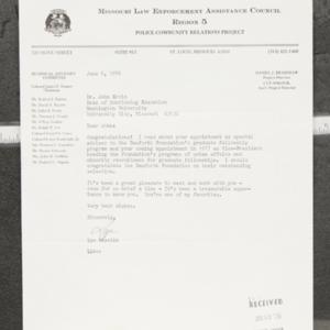 Letter from Lyn Sokolik to Dr. John Ervin