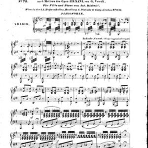 1tes Potpourri nach Motiven der Oper Ernani von G. Verdi / für flöte und piano von Ant. Diabelli.