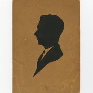 Hans Lodeizen silhouette and letter<br />