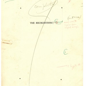Title page proofs for <em>The Recognitions</em> by William Gaddis