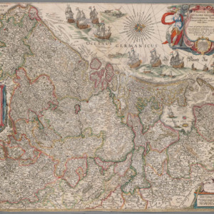The map of the Netherlands from the fourth volume of Joan Blaeu&#039;s Atlas Maior.<br />