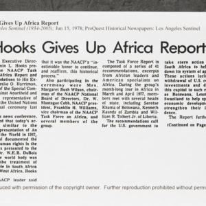 """Hooks Gives Up Africa Report"""