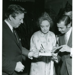 William Jay Smith and Lillian Gish at the Library of Congress, 1970