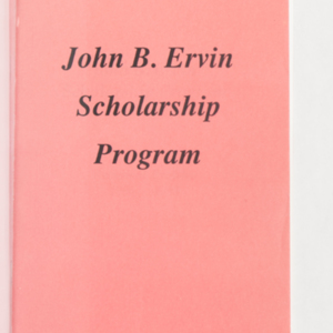 John B. Ervin Scholarship Program Recipient Profiles 1990-1993