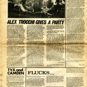 """Alex Trocchi Gives a Party"" by Felix Scorpion from the <em>International Times</em>, Number 55 (April 25-May 8, 1969)"