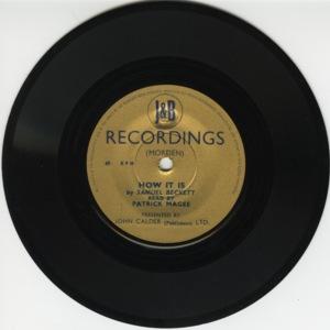 <span><em>How It Is</em> sound recording</span>
