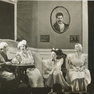 "Isabella Gardner as ""The Parlourmaid"" from <em>Playgoers</em> in <em>Three Curtains</em>, 1942."