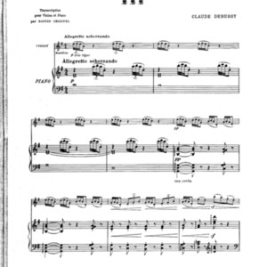 2me Arabesque / Claude Debussy ; transcription pour violon et piano par Gaston Choisnel ; [transcription pour flute et piano par L. LaFleurance].