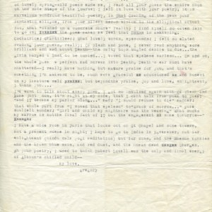 Typed letter from Gregory Corso to Isabella Gardner, no date