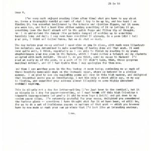 Typed letter [carbon] from Howard Nemerov to John Pauker, April 25, 1958