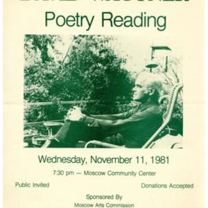 """David Wagoner Poetry Reading"""