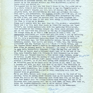 Autograph letter, signed from James Merrill to Mona Van Duyn, December 1, 1964