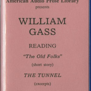 "Cassette tape cover for William Gass reading ""The Old Folks"""
