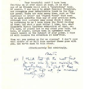 Typed letter, signed from Babette Deutsch to May Swenson, February 9, 1963