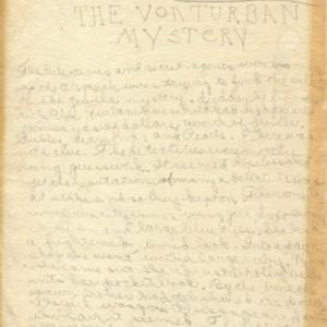 <em>The Von Turban Mystery</em> by Mona Van Duyn