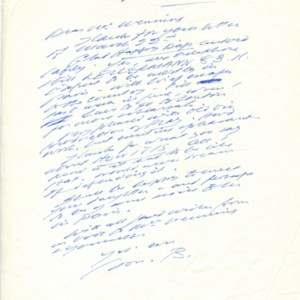 Autograph letter, signed from Samuel Beckett to Henry Wenning, April 11, 1964