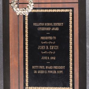 Wellston School District Citizenship Award