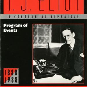 """""""T.S. Eliot: A Centennial Appraisal"""""""