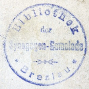 Bookstamp of Synagogengemeinde (Breslau, Germany)