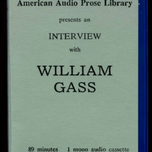 Cassette tape cover for<em> William Gass Interview with Kay Bonetti</em>