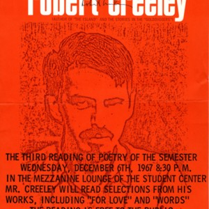 """The Department of Humanities, M.I.T. Presents: Robert Creeley"""