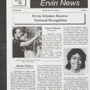 <em>Ervin News </em>Volume 1