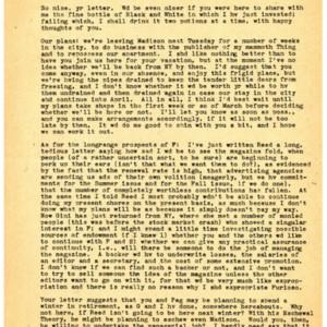 Typed letter, signed from John Pauker to Howard Nemerov, February 11, 1948