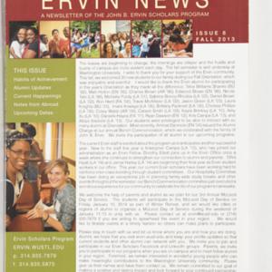 <em>Ervin News</em> A Newsletter of the John B. Ervin Scholars Program Issue 8