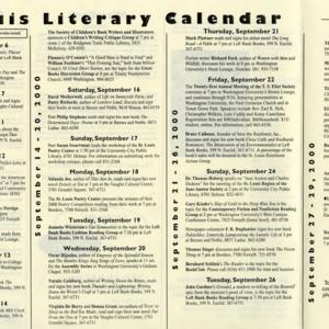 St. Louis Literary Calendar