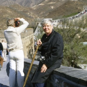William H. Gass at the Great Wall of China, 1984