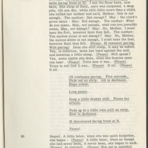 <span>Rehearsal Script for <em>Footfalls</em> Performance, Spring, 1976</span>