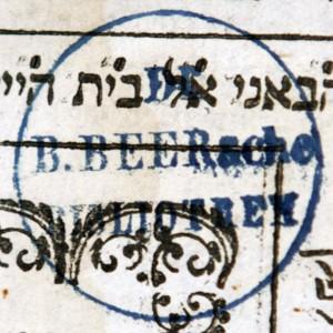 Bookstamp of B. (Bernhard) Beer