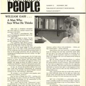 """William Gass...A Man Who Says What He Thinks,"" <em>Purdue People</em>"