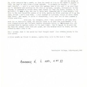 <em>The Journal of the Fictive Life</em> by Howard Nemerov.