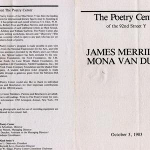 """""""James Merrill & Mona Van Duyn"""""""