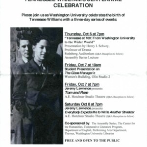 """Tennessee Williams Centennial Celebration"""