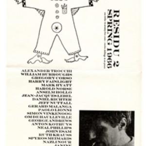 Prospectus for <em>Residu 2,</em> Spring 1966