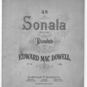 4th sonata :b(Keltic) : for pianoforte : op. 59