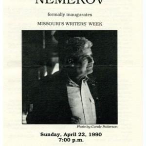 """Program for """"Howard Nemerov: The Marie Bullock Poetry Reading"""""""