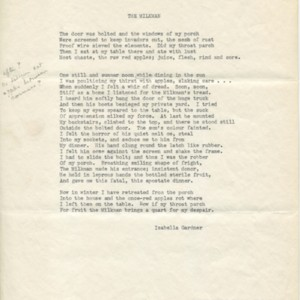 Typescript draft of an untitled collection by Isbella Gardner with marginal notes in T.S. Eliot's hand