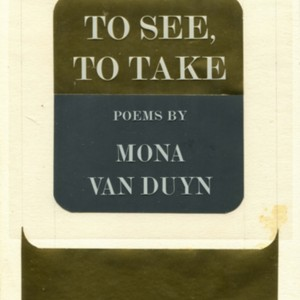 Setting copy of <em>To See, To Take</em>by Mona Van Duyn