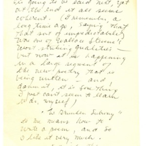 Autograph letter from Mona Van Duyn to Donald Finkel
