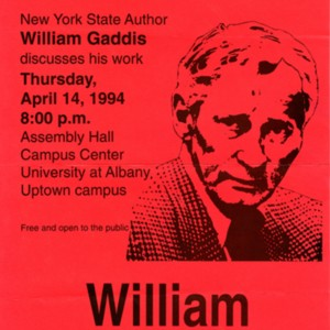 """New York State Author William Gaddis Discusses His Work"""